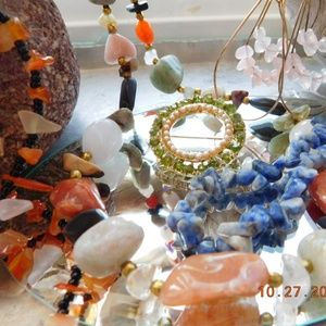 Jewelry - Jewelry Lot Semi Precious Rock and Chip Lot of 5